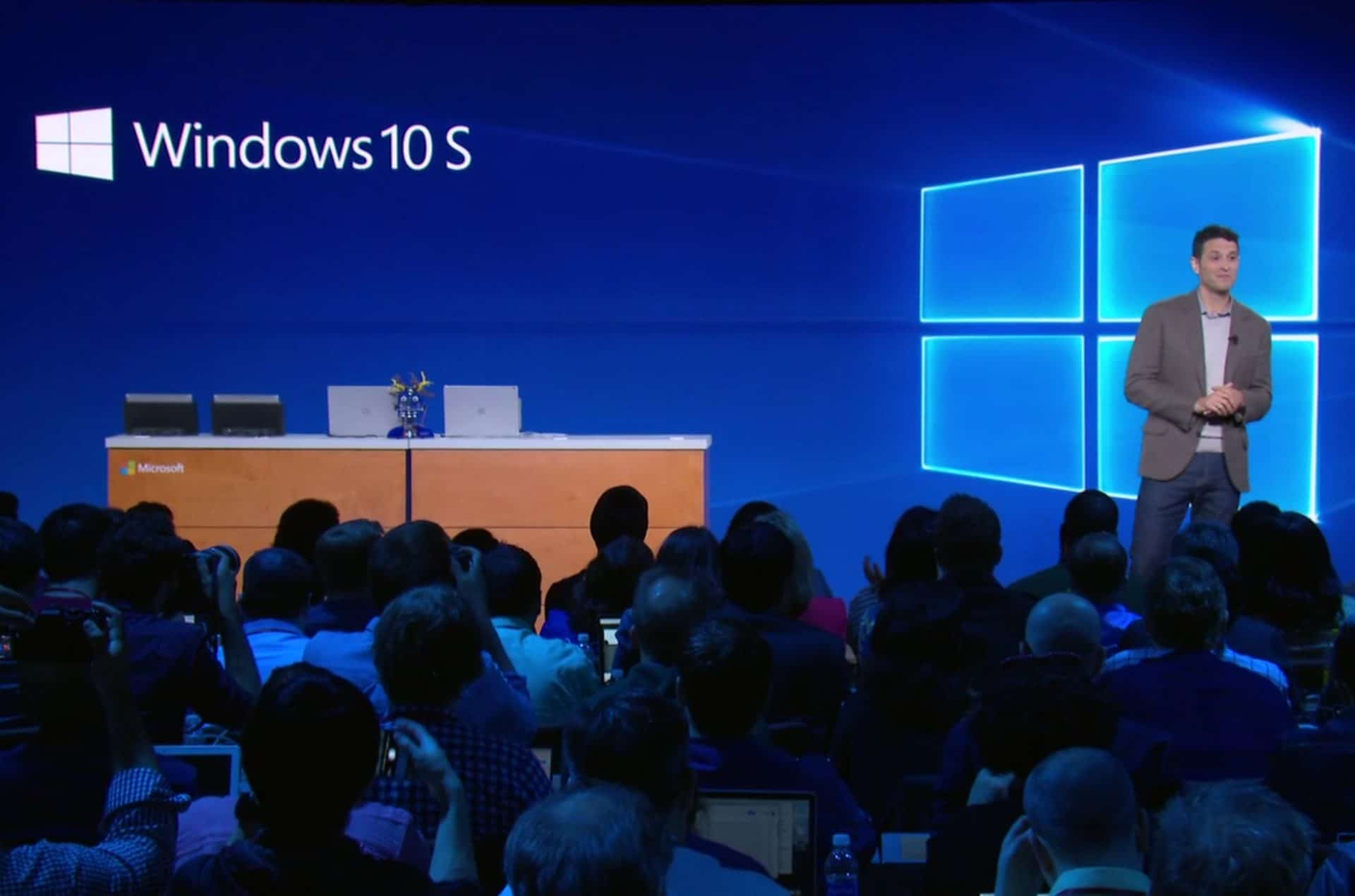 Windows 10 S – Streamlined and Secure.