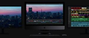 new 2017 imac three monitors dark grey